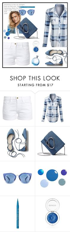"""""""Untitled #693"""" by jovana-p-com ❤ liked on Polyvore featuring Frame, LE3NO, Gap, 3.1 Phillip Lim, Prada, Too Faced Cosmetics and Clinique"""