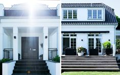 Black and white villa in Denmark.