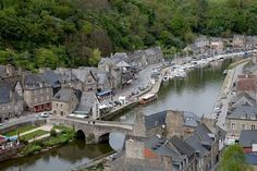 Dinan is without doubt one of the most attractive and best preserved small towns in Brittany. With its 1.8 mile (3km)-long ramparts, half-timbered houses, attractive port and cobbled streets filled with art galleries and craft shops, it's worth a day of anyone's time. #France
