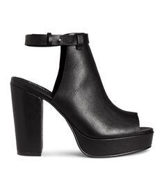 e89a7831fa5 Black. Platform sandals in imitation leather. Covered heel