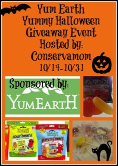 Yum Earth Halloween Giveaway Event – ends 10/31