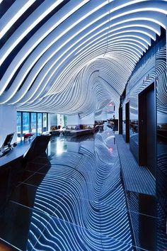 W New York :: Location: 123 Washington Street, NYC, New York 10006 ( Located one block from the site of the new Freedom Tower, the W New York: Downtown Hotel Architecture Design, Gothic Architecture, Amazing Architecture, Installation Architecture, Building Architecture, Commercial Design, Commercial Interiors, Espace Design, Downtown Hotels