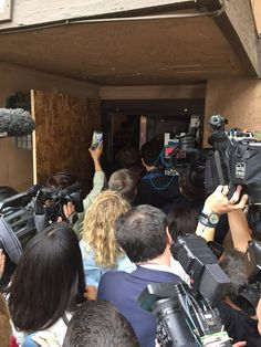 Landlord opens the door to the home of the couple responsible for a mass shooting in San Bernardinio CA and invites the media inside -- even though it's still an active crime scene. Reporters pour in and cable TV channels show a live broadcast of what they find. (December 2015)