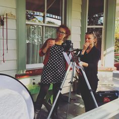 #Setting the #scene - what do we think ladies? #tbt to behind the scenes with Good's contributing editor Sarah and art director Lisa at your November/December cover shoot... only 3 more days until it hits stands! #summer #celebrations #special #issue #magazine #moments #behindthescenes