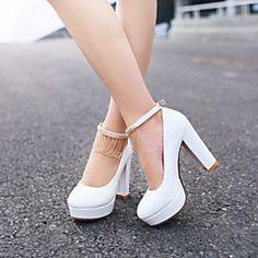Pantofi pentru femei Imitație de Piele Toc Stiletto Tocuri Pantofi cu Toc Nuntă/Rochie Negru/Roz/Alb