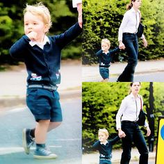 Prince George and his nanny.