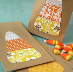 Super cute for little treat bags for classes or friends!