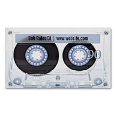 Audio Cassette DJ Business Card