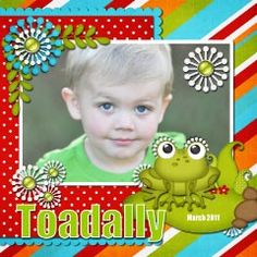 Toadally Adorable - Scrapbook.com Double page layout See next pin for the other page
