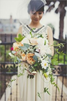 organic wedding bouquet #bouquet #bride #weddingchicks http://www.weddingchicks.com/2014/02/17/enchanting-rainy-day-wedding/