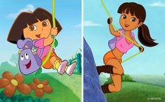 Dora as a kid vs Dora as an adult! The reason I am show you guys this is because everone calls me Dora, so I guess this is some what of what I'm goin to look like. Pry not though. Cute Disney Drawings, Disney Princess Drawings, Disney Princess Art, Stewie Griffin, Modern Disney Characters, Girl Cartoon Characters, Cartoon Cartoon, Disney Fan Art, Arte Monster High