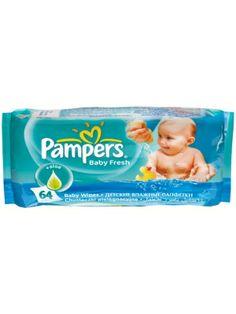 PAMPERS 64szt. baby fresh Chusteczki pielęgnacyjne dla dzieci i niemowląt.  • delikatnie oczyszczają i odświeżają • zastępują kąpiel • nie zawierają mydła ani alkoholu • przebadane dermatologicznie