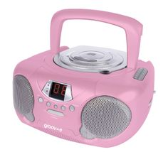 thomson cd boombox top loading cd player fm radio aux in mains battery pink awesome. Black Bedroom Furniture Sets. Home Design Ideas