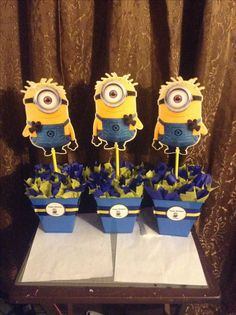 Minion centerpieces contact me on instagram by nata271 or leave a comment