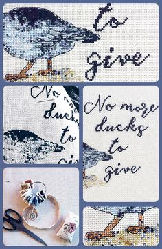Can't get enough of this sassy cross stitch.