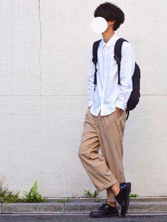 とっしーさんのコーディネート City Boy, Parachute Pants, Harem Pants, Normcore, Boys, How To Wear, Clothes, Study, Drawing
