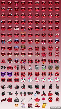 If you are not impressed by the Kimoji, now there's another one that you might love: Deadpool Emoji
