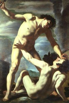 Bolognese School, Cain and Abel, 17th century