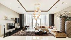 L'intérieur de ce bel appartement avec vue