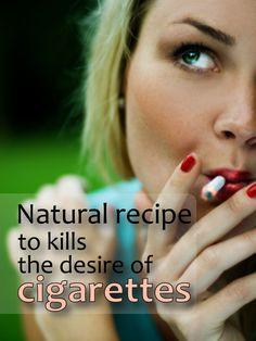Natural Recipe That Kills The Desire For Cigarettes | healthybuzzer.com
