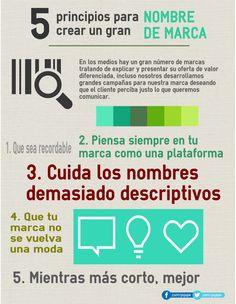 5 principios para crear un gran nombre de marca #infografia #infographic #marketing
