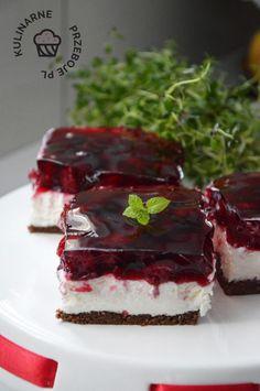 Cherry Bars, Polish Recipes, Polish Food, Nutella, Cake Recipes, Cheesecake, Food And Drink, Chocolate, Sweet