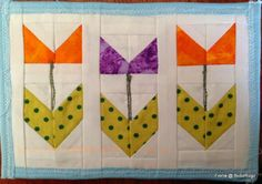 BubzRugz blog - spring theme, perfect for a skinny table runner