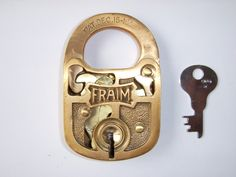 One of my favorite padlocks: the Fraim Contract 4 Lever padlock cutaway