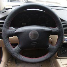 Hand-stitched Black Leather Steering Wheel Cover for Volkswagen Passat B5 VW Passat B5 VW Golf 4