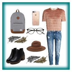 """#soome"" by defneomerr ❤ liked on Polyvore featuring H&M, Raey, Herschel Supply Co., Casetify, rag & bone and Paperself"