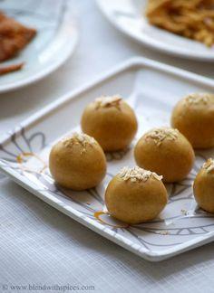 Microwave Besan Ladoo Recipe - Indian Microwave Sweet Recipes - Easy Diwali Sweets - Indian Cuisine