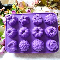 The Best U Want Lovely flowers silicone cake decorating cookies baked bread oven cake mold cartoon cute DIY special biscuit biscuits small cake mold chocolate mold bread mold Bread => Haven't you heard that you can find more discounts at this image link : Bakeware