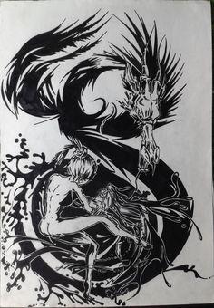 Dragon&Woman