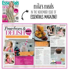 Mila's Meals: The Beginning & The Basics in Essentials Magazine Delish Kitchen, Essentials Magazine, Babies First Year, Health Coach, Whole Food Recipes, Dairy Free, Meals, Book, Kids