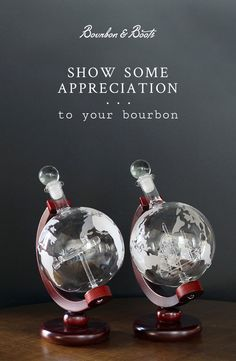 After everything it's given to you, your bourbon deserves some appreciation. Display it prominently in our Etched Globe Decanter, with an encased Antique Ship or Antique Plane. Tea Pot Set, Pot Sets, Bourbon And Boots, Balcony Bar, Good Whiskey, Treasure Hunting, Bourbon Barrel, Vintage Perfume Bottles, Or Antique