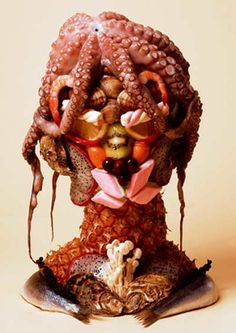 seafood sculpture. this iskinda gross but i can't look away