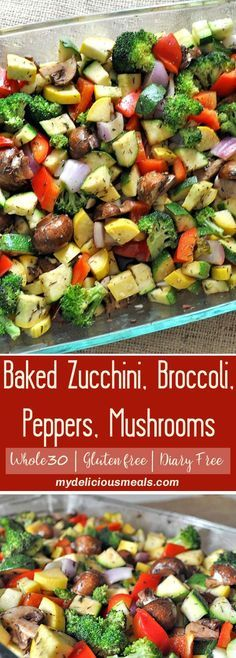 These roasted zucchini, broccoli, peppers, onions and mushrooms are one of the quickest, easiest and healthiest recipes you can throw together, and mmmmm... are they so good!! One of the best ways to enjoy veggies even for vegetable haters. The flavor combination is really lovely.
