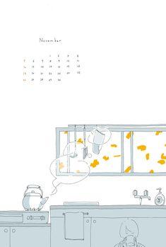 Aesthetic Art, Aesthetic Anime, Calendar Wallpaper, Cute Patterns Wallpaper, Korean Art, Kawaii Wallpaper, Kawaii Art, Cute Cartoon Wallpapers, Anime Scenery