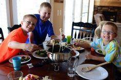 Family Fondue Night {My Favorite Fondue Recipe + a Giveaway!}