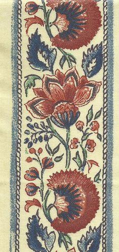 Dutch Chintz Border Fabric  Coromandel NARROW  by Motifsbyhand, $3.00