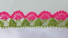 Very Popular Colorful Flower Row 27 Crochet Needlework Pattern Crochet Lace Edging, Crochet Borders, Crochet Squares, Creative Embroidery, Hand Embroidery, Baby Knitting Patterns, Knitting Socks, Needlework, Diy And Crafts