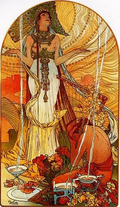 Alfons Mucha - from his huge collection of posters #ArtNouveau #painting #Czechia #art