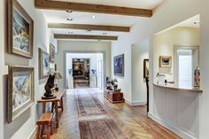 Herringbone hardwood floors Memorial Villages Houston TX Real Estate - 2210 South Piney Point Rd