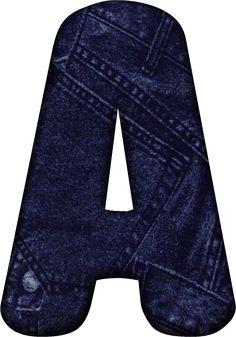 Alfabeto en Tela de Jeans o Vaqueros.