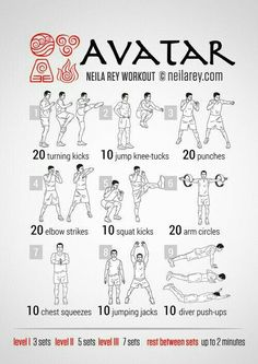 Avatar workout from Neila Rey. Hero Workouts, At Home Workouts, Movie Workouts, Training Workouts, Po Trainer, Neila Rey Workout, Superhero Workout, Darebee, Fitness Studio