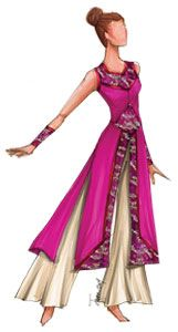 pretty pink uniform. Female New Designs | Creative Custuming & Designs