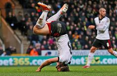 Credit: Matthew Childs/Action Images Fulham's Scott Parker on his head after scoring his team's winning goal in the 87th minute, beating Nor...