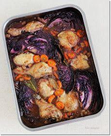 Gizi-receptjei. Várok mindenkit.: Lilakáposztás-boros csirkecomb.