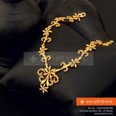 Exquisite and graceful gold necklace