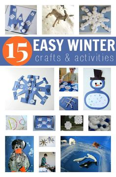 Easy winter craft ideas for kids. Perfect for the weather right now! If you can't fight the snow, at least use it for some fun inspiration.